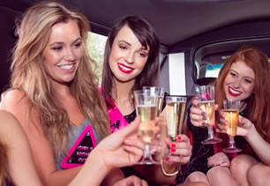 Hen party in limo travelling to Coventry
