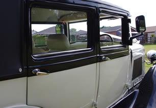Detailed view of Leicester wedding car